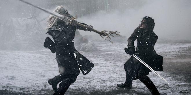 geeky bugle jon snow fight