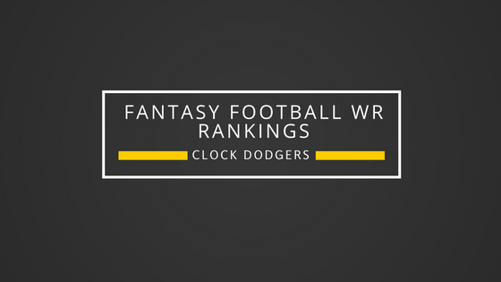 2016 PPR WR Rankings