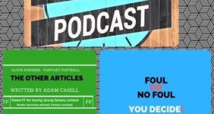 Clock Dodgers Podcast Fantasy Football